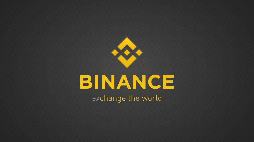 Binance logo gul og sort