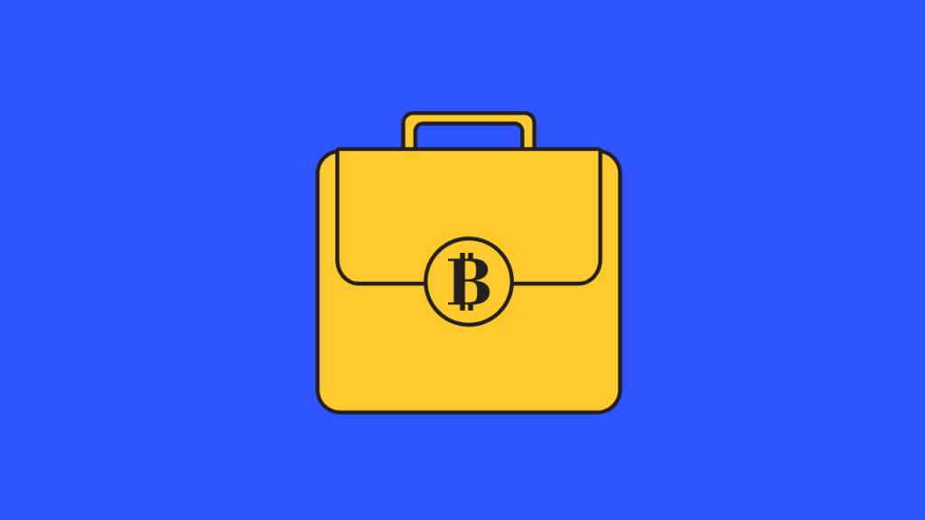Bitcoin wallet illustrasjon