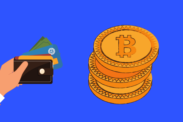 Bitcin lommebok illustrasjon